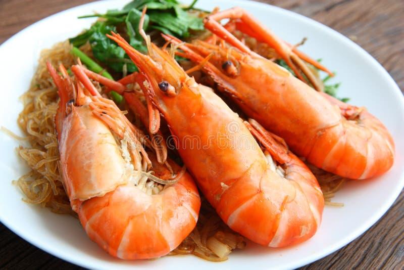 虾细面条 泰国的食物 库存照片
