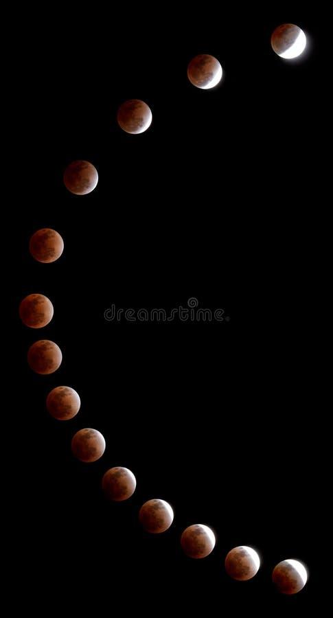 蚀月球路径 库存图片