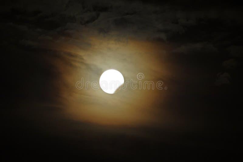 蚀月球部分 免版税库存照片