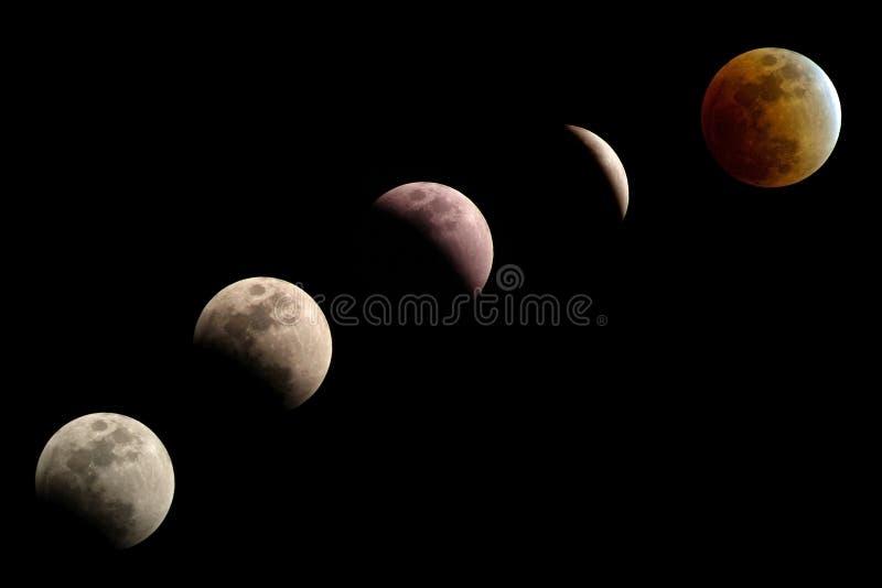 蚀月球阶段 免版税库存照片