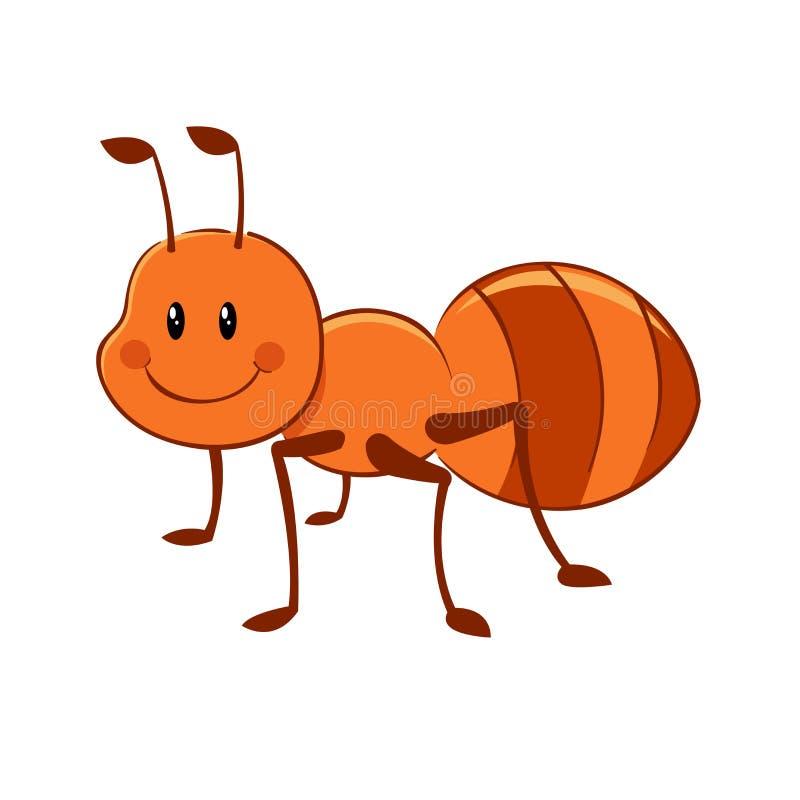 蚂蚁动画片 皇族释放例证