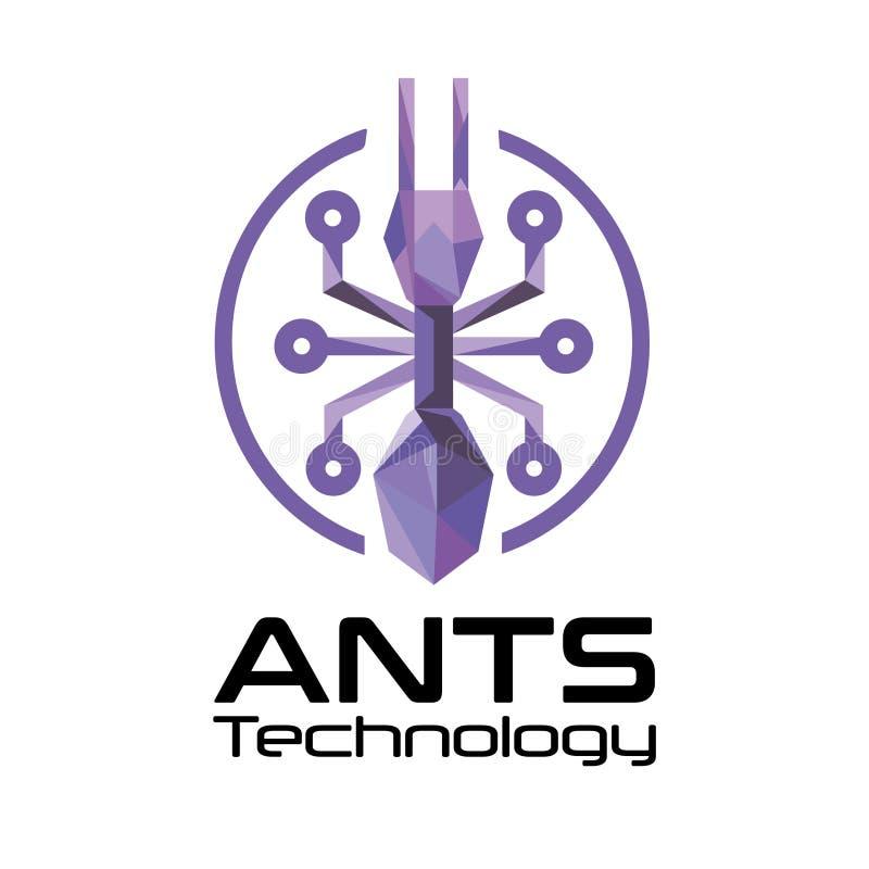 蚂蚁技术商标 免版税库存照片