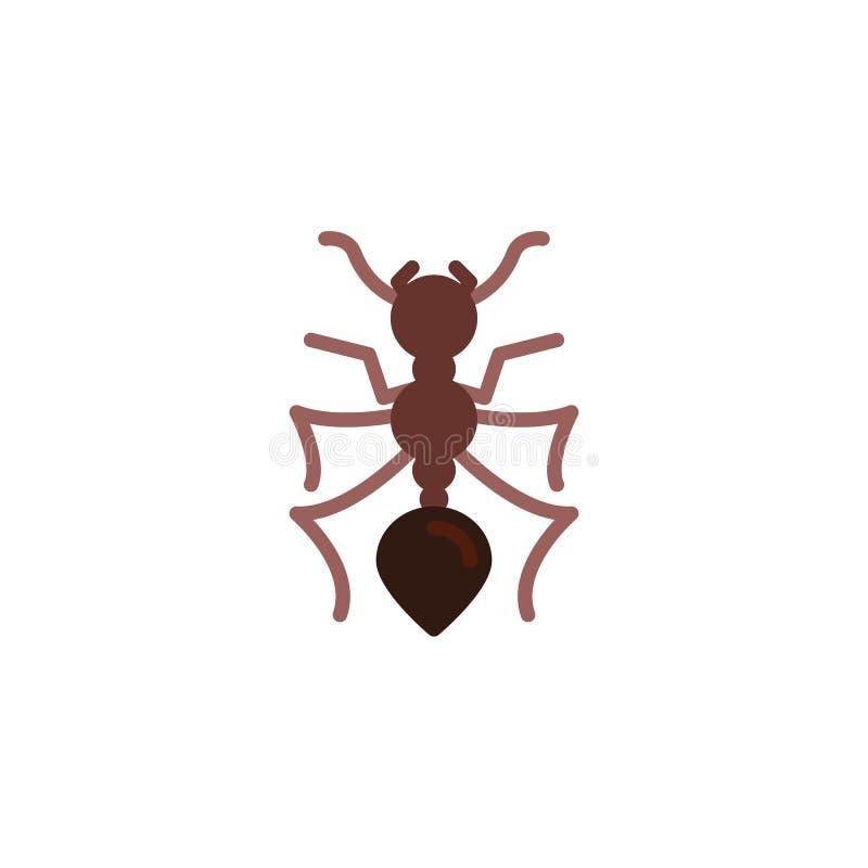 蚂蚁昆虫平的象, 皇族释放例证