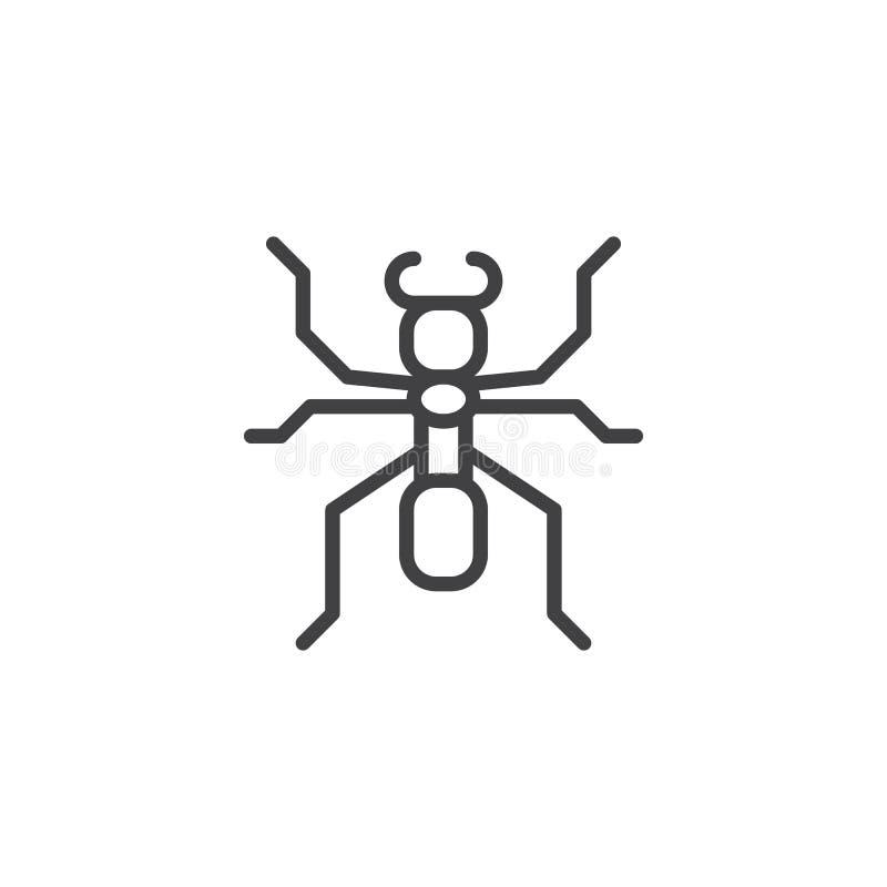 蚂蚁线象 向量例证
