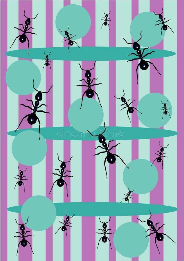 蚂蚁背景 向量例证