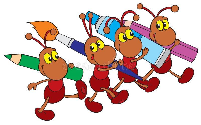 蚂蚁艺术夹子向量 向量例证