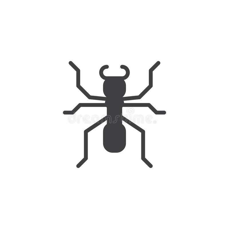 蚂蚁象传染媒介 库存例证