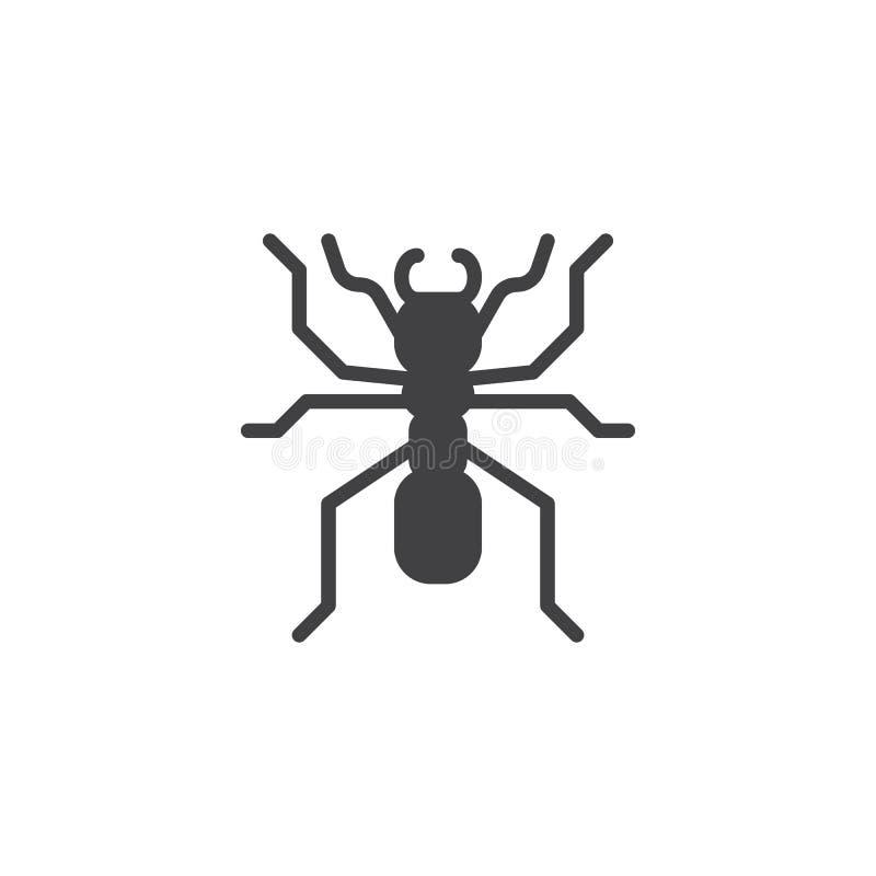蚂蚁象传染媒介 向量例证