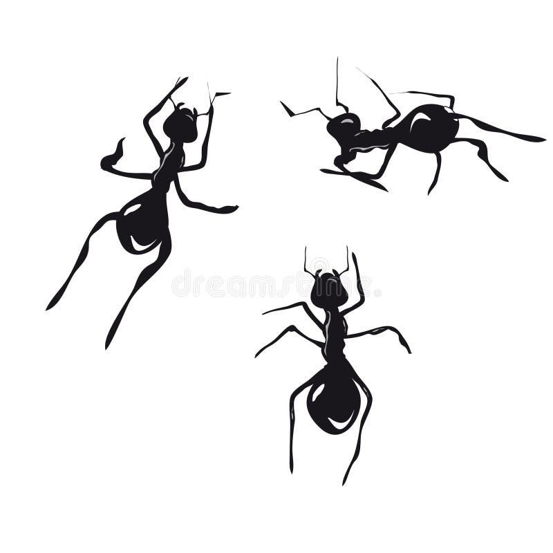 蚂蚁 皇族释放例证