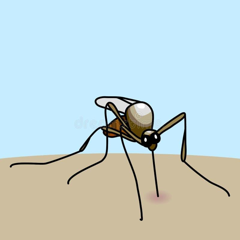 蚊咬 向量例证