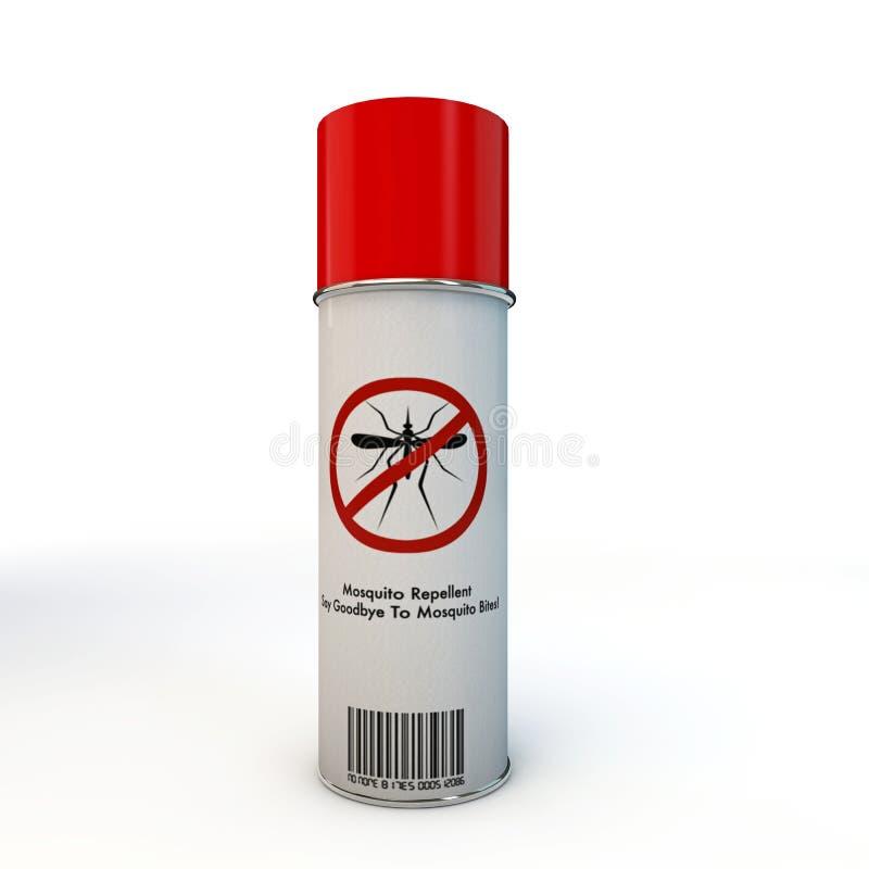 蚊子放水剂浪花 向量例证