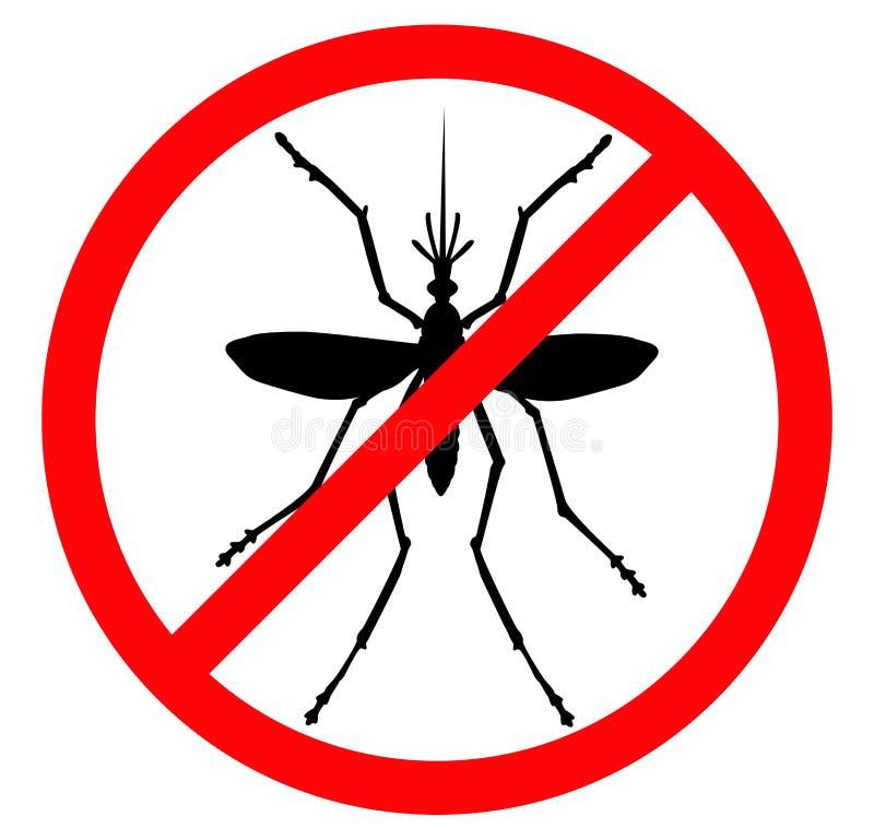 蚊子终止 库存例证