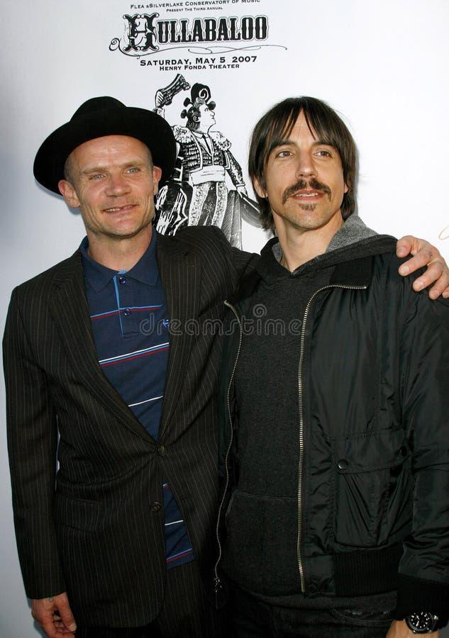 蚤和安东尼Kiedis 免版税库存图片