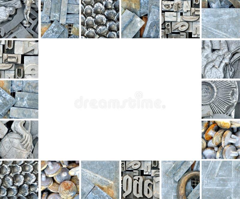 蚤框架旧货做市场金属 免版税库存照片