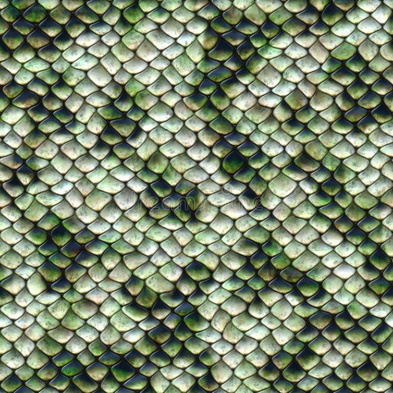 蛇样式,无缝的盖瓦 库存例证