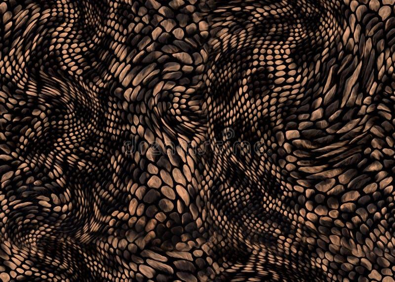 蛇皮纺织品印刷品背景 免版税图库摄影