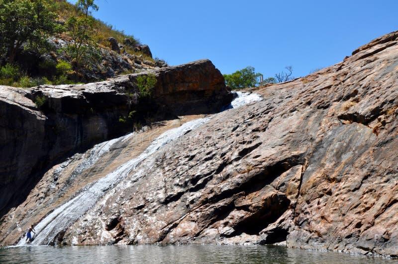 蛇纹石秋天,西澳州 库存图片