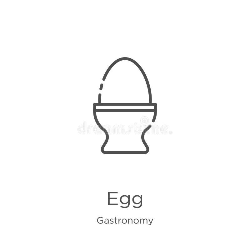 蛋从美食术汇集的象传染媒介 稀薄的线蛋概述象传染媒介例证 概述,稀薄的线蛋象为 库存例证