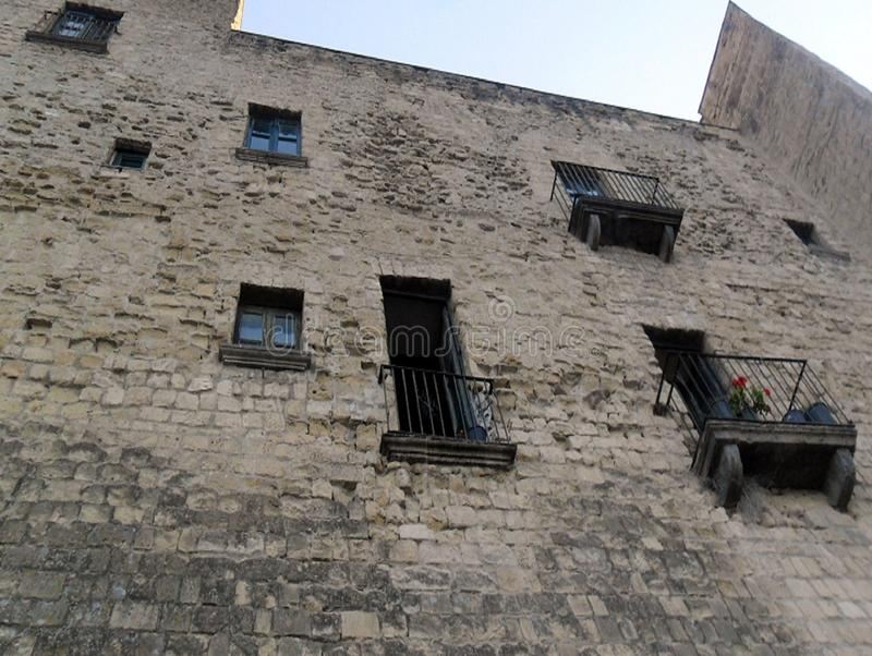 蛋城堡那不勒斯 免版税库存照片