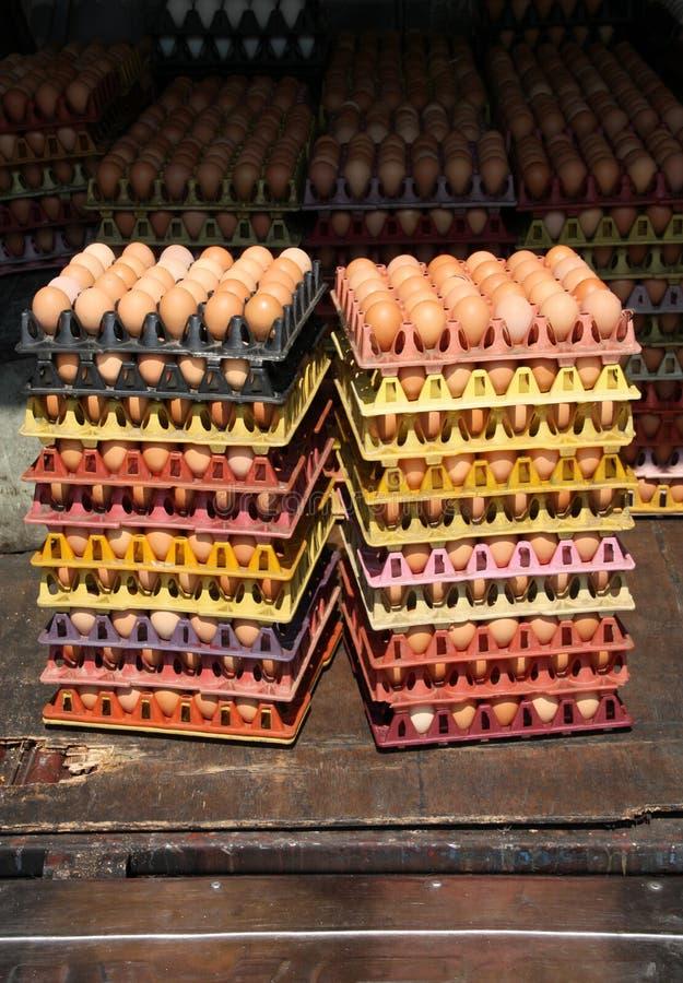 蛋市场 库存照片