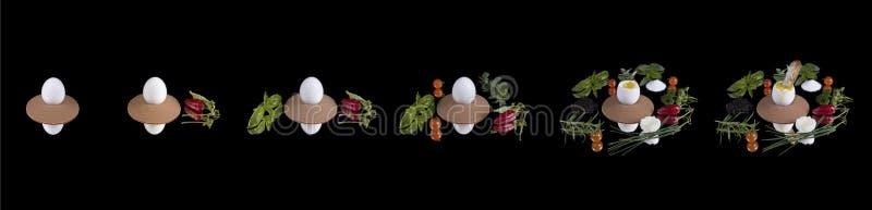 蛋旅途 图库摄影
