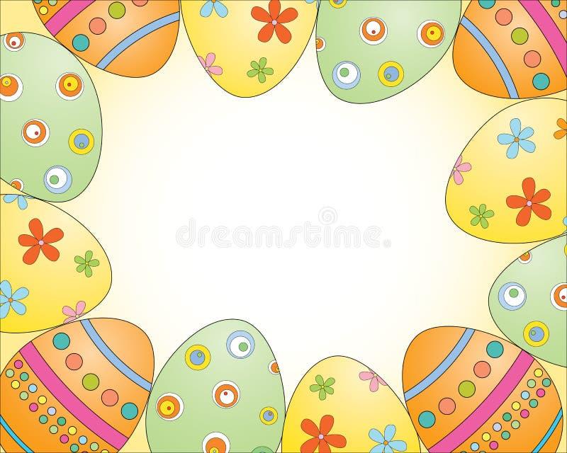 蛋框架 图库摄影