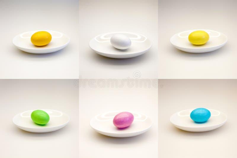 蛋混合涂料 免版税图库摄影
