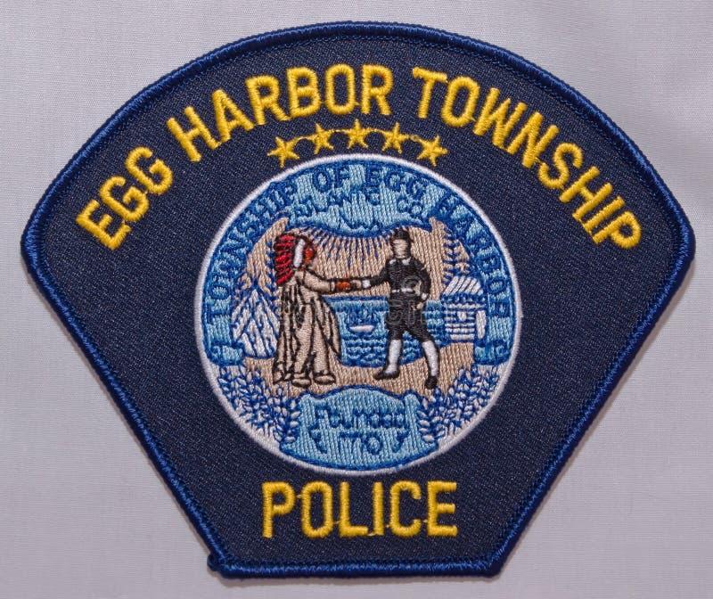 蛋港口乡警察局的肩章在新泽西 免版税库存照片