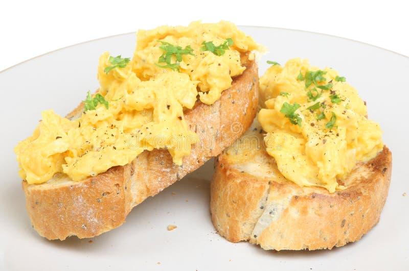 蛋爬行的多士 库存照片