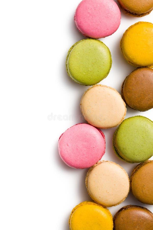 蛋白杏仁饼干的各种各样的类型 库存照片
