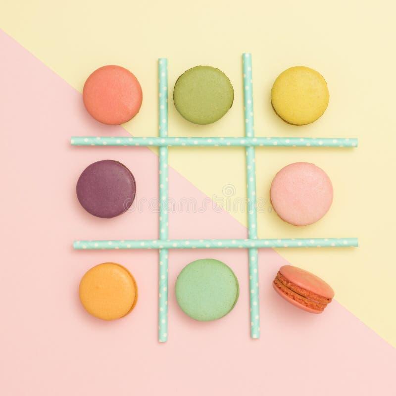 蛋白杏仁饼干 免版税库存照片