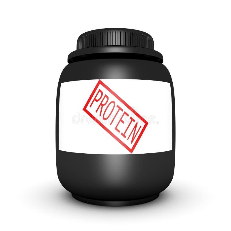 蛋白质体育运动营养在空白背景能 库存例证