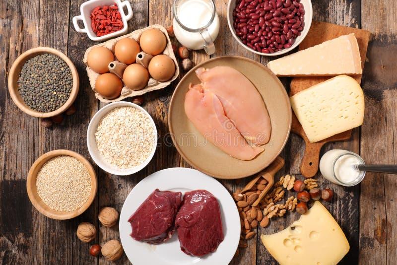 蛋白质食物 免版税库存图片