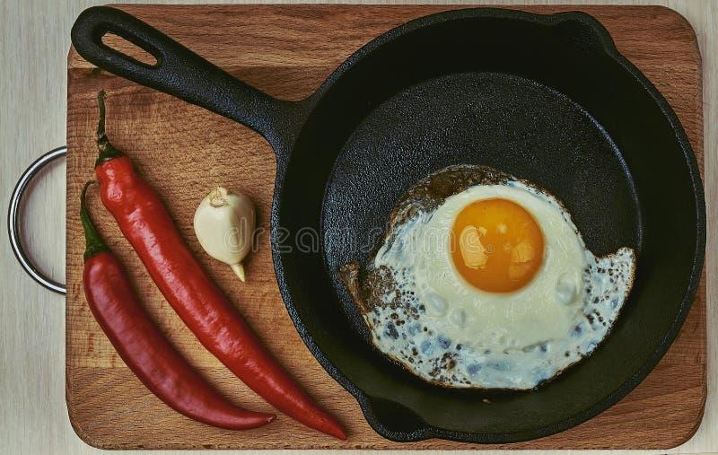 蛋白质,煎锅,健康,厨师,隔绝,吃 库存照片