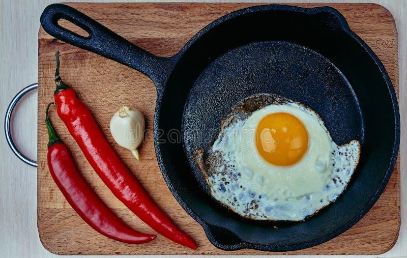 蛋白质,煎锅,健康,厨师,隔绝,吃 免版税库存图片