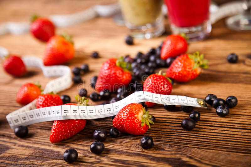 蛋白质震动、体育和健身 免版税库存图片