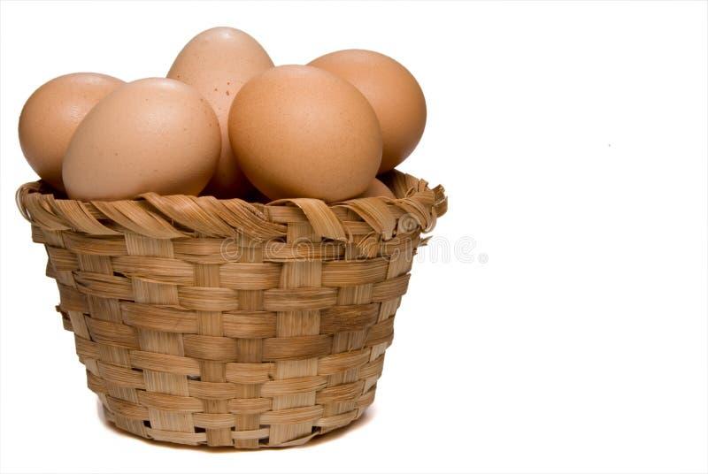 蛋篮子 免版税库存图片