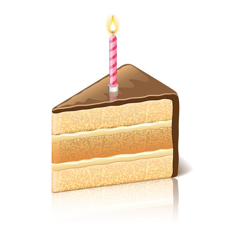 蛋糕与巧克力传染媒介例证的 皇族释放例证