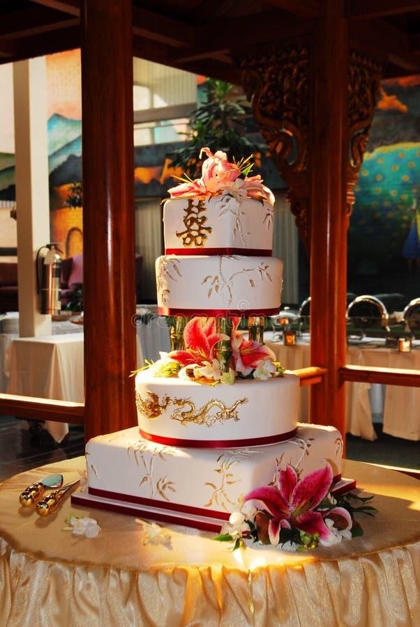 蛋糕中国婚礼 库存图片
