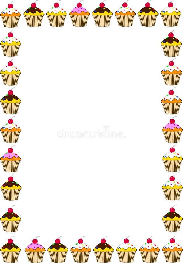 蛋糕五颜六色的框架 库存照片