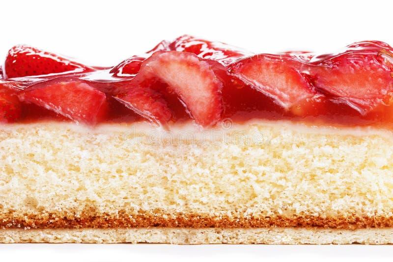 蛋糕副草莓 图库摄影