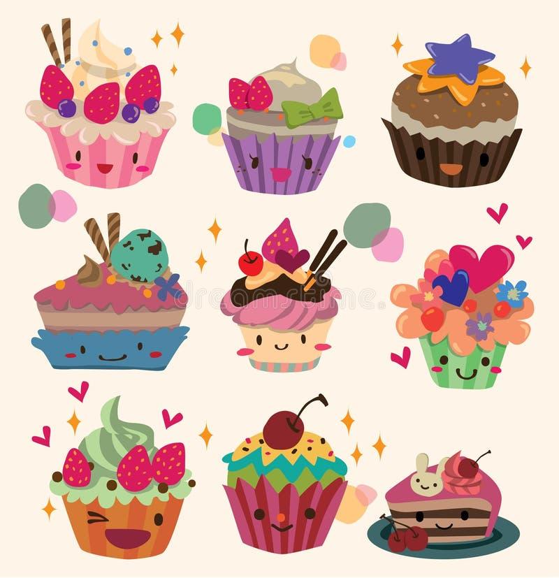 蛋糕动画片 向量例证