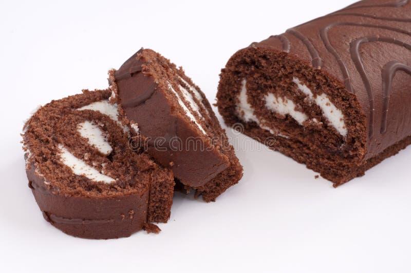 蛋糕卷瑞士 免版税库存图片