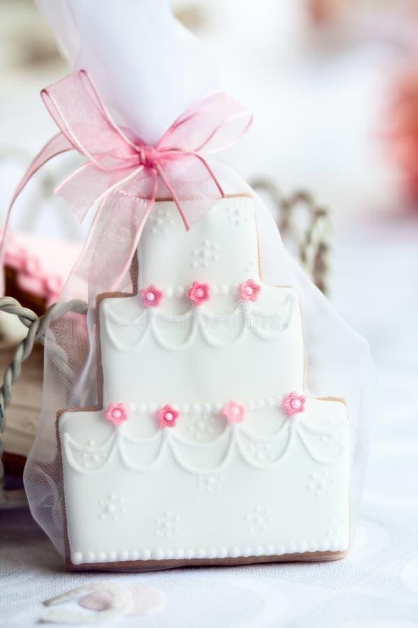 蛋糕厚待婚礼 库存图片