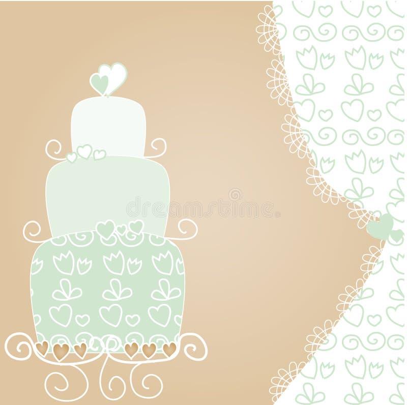 蛋糕可爱的婚礼 向量例证