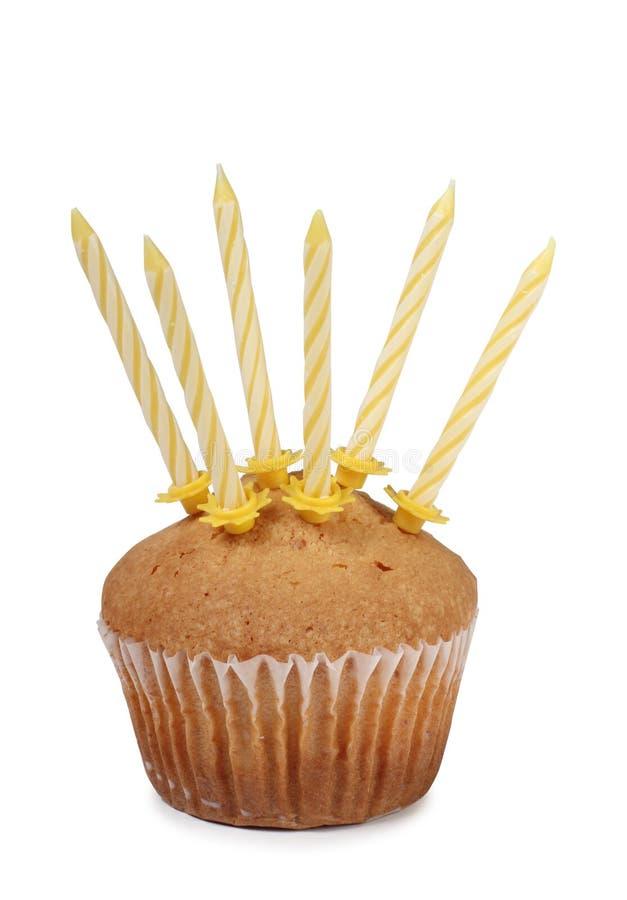 蛋糕和蜡烛三 图库摄影