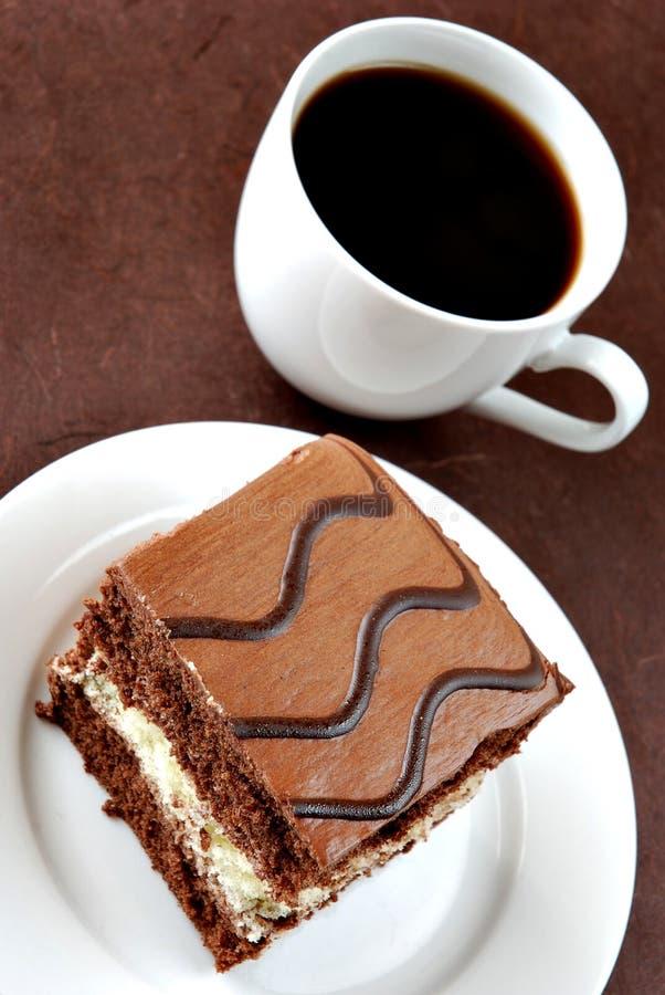 蛋糕咖啡 图库摄影