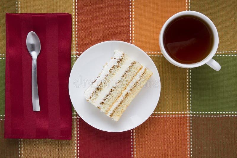 蛋糕在牌照的 免版税库存图片