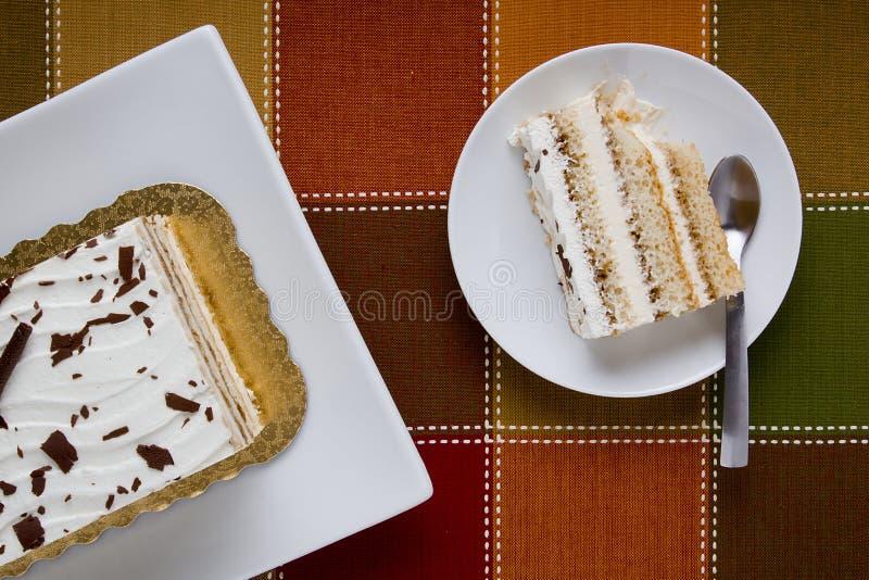 蛋糕在牌照的 免版税图库摄影
