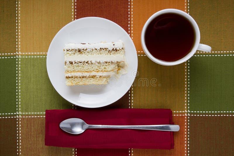 蛋糕在牌照的 图库摄影